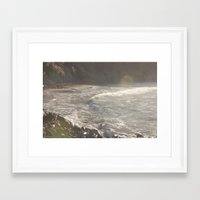 salt water Framed Art Prints featuring Salt Water  by Shine