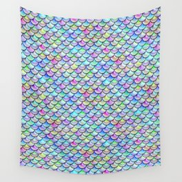 Rainbow Bubble Scales Wall Tapestry