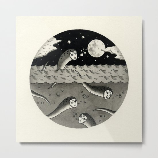 Convening on the Full Moon Metal Print