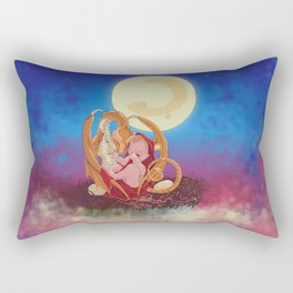 Dragon lullabye in red Rectangular Pillow