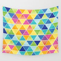 triangle Wall Tapestries featuring Triangle by Liz Urso