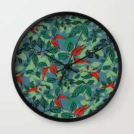 chillie (blue) Wall Clock