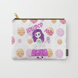 Chibi ice cream and lollipop Illustration Carry-All Pouch