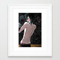 fnaf Framed Art Prints featuring Marionette FNAF by Nazaki Cain