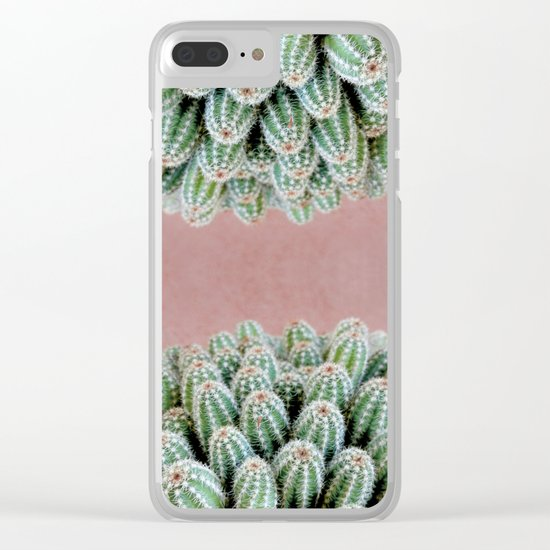 Double Cactus Clear iPhone Case