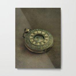 Golden pocket watch Metal Print