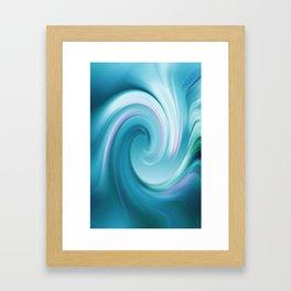 Blue wave 209 Framed Art Print