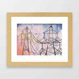 Phonelines Framed Art Print