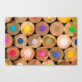 COLORED PENCILS 3 Canvas Print