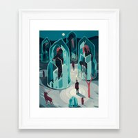 ice Framed Art Prints featuring Ice age by Reno Nogaj