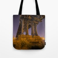 dumbo Tote Bags featuring DUMBO by Juha Photography
