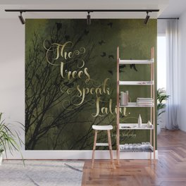 The trees speak Latin. The Raven Boys Wall Mural