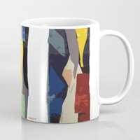 subway Mugs featuring Subway by Myles Hunt