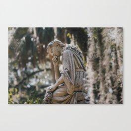 Bonaventure Cemetery - Statue of Eliza Wilhelmina Theus II Canvas Print