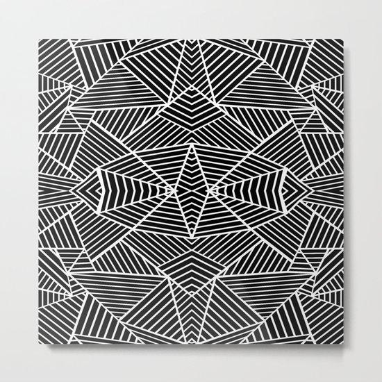 Ab Zoom Mirror Black Metal Print