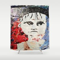 les miserables Shower Curtains featuring LES MISERABLES by JANUARY FROST