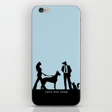 cats and dogs iPhone & iPod Skin