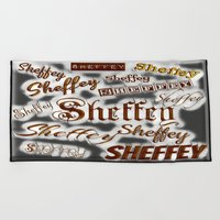 Sheffey Fonts - Gray and Bronze 9643 Beach Towel