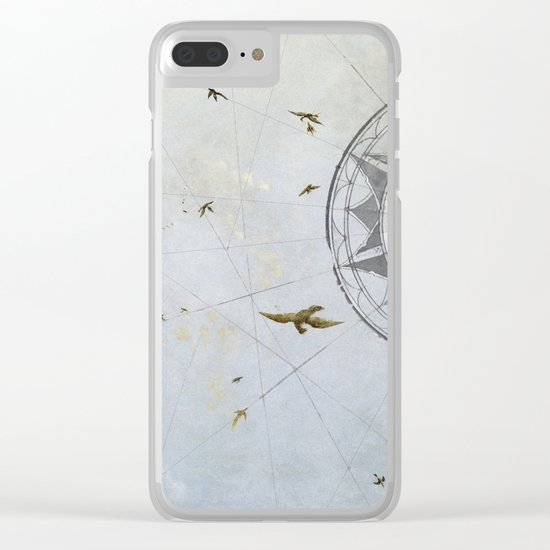 Losing Direction Clear iPhone Case