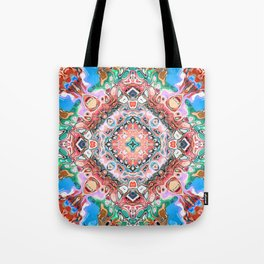 Textured Abstract Tile Pattern Tote Bag