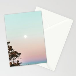 Rainbow Color Sunset // Incredible Clear Sky Photograph Through the Forest Trees Stationery Cards