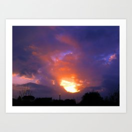 Sunset from my house 2 Art Print