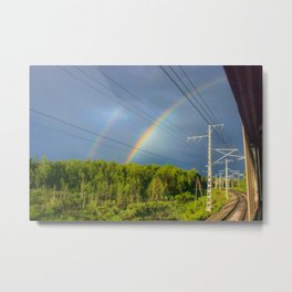 The railway into the dream Metal Print