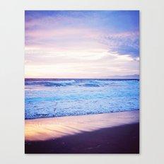 Purple Sunset over Hermosa Beach, Los Angeles  Canvas Print