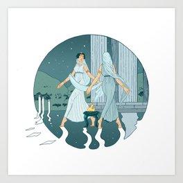 Dance at midnight Art Print