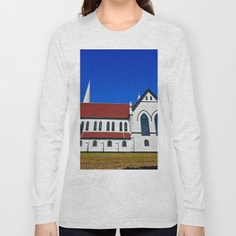 St. Mary's Church side view Long Sleeve T-shirt