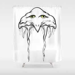 Floating Bird Shower Curtain