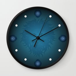 Blue Lion Wall Clock