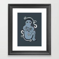 happily Framed Art Print