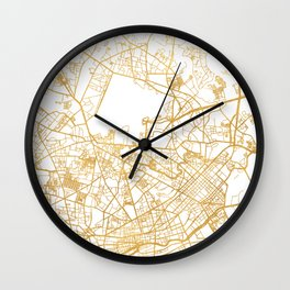 HI CHI MINH CITY STREET MAP ART Wall Clock