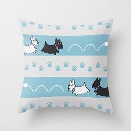 Scotties Pattern Throw Pillow
