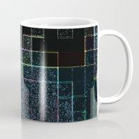tetris Mugs featuring Tetris by Audrey Erickson