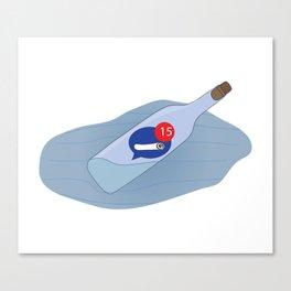 Messenger Bottle Canvas Print