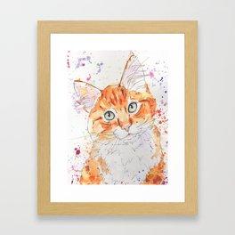 Orange Tabby Kitten Art Framed Art Print