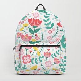 Flower Lovers - White Backpack