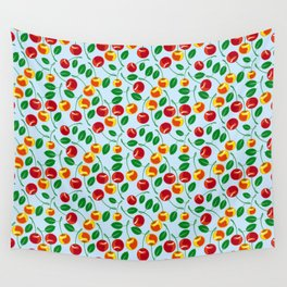 Pattern with sweet cherries Wall Tapestry