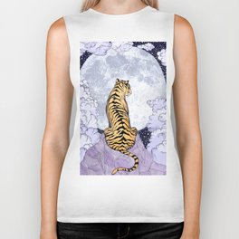 Tiger Moon | Colour Version Biker Tank