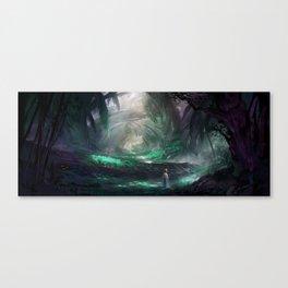 Deep Dark Wood Canvas Print
