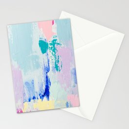 MAVEN // ABSTRACT MIXED MEDIA ON CANVAS Stationery Cards