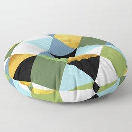 Geometric Abstract 81 Floor Pillow