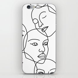Surreal Faces iPhone Skin
