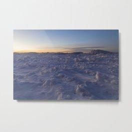 Minimal Winter Landscape in Wisconsin Metal Print