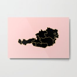 Austria map Metal Print