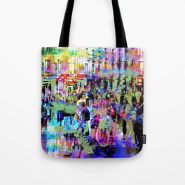 Sunk antics, nay, to jest assumes upper mind etch. Tote Bag