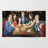 how i met your mother Area & Throw Rugs featuring How I Met Your Mother by Michael Duhamel