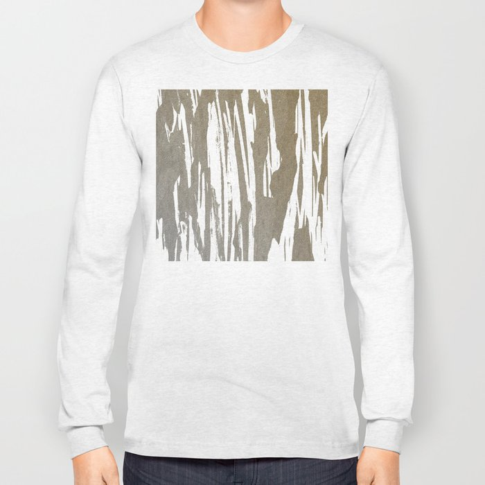 Abstract Taupe Splash Design Long Sleeve T-shirt